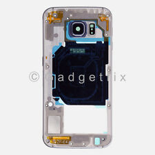 US Black Samsung Galaxy S6 G920V G920P Back Housing Frame Bezel + Camera Lens