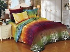 Rainbow Tree Double Size Bed Duvet/Doona/Quilt Cover Set New