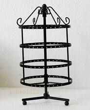 New 144 holes black color rotating earrings jewelry display stand rack holder