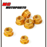 Gold Rear Sprocket Nuts x6 For Yamaha XJR1200 95-98 XJR1300
