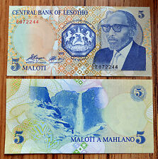 Lesotho  5 Maloti 1989  P-10a  UNC CURRENCY AFRICA BANKNOTE PAPER MONEY