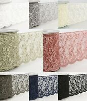 La Stephanoise 75mm Floral Embroidery on Tulle Lace Ribbon - S3734