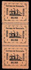 Scott # 5 - 1903 - ' Revolutionary Steamship Banrigh ', Strip of 3 w/misperf