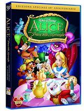 ALICE NEL PAESE DELLE MERAVIGLIE DI WALT DISNEY (DVD) NUOVO, ITALIANO, ORIGINALE