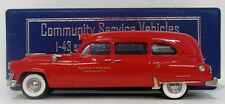 Brooklin 1/43 Scale CSV06 - 1953 Chrysler Imperial Ambulance New Brunswick - Red