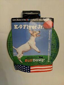 Ruff Dawg K9 Flyer/K9 Flyer Junior Dog Toy (Green/blue) tiedye