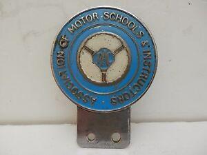 Rare. RAC Association of Motor Schools & Instructors. Car Club Badge.