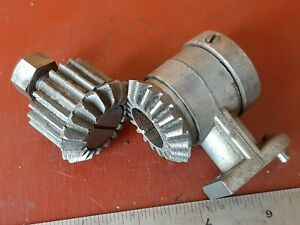 "Atlas Craftsman 10 12"" Lathe Mitre Gear Assembly Bevel Gears One Steel VERY NICE"