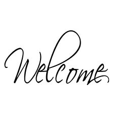 Welcome Decal Vinyl Home Decor Wall Door Window Word Lettering Sticker 22x7.5cm