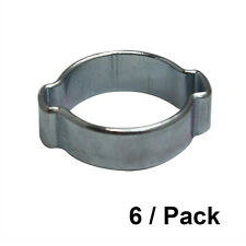 6/PK 7-9 mm Zinc Plated Double Ear Steel Automotive/Hand Tool Hose Clamp