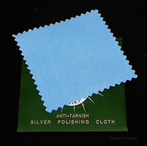 Anti Tarnish Polishing Cloth For Sterling Silver Jewelry 1pc