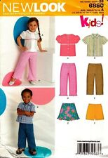 New Look Sewing Pattern 6880 Kids Toddlers Top, Pants and Skirt