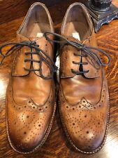 Joseph Aboud Size 8.5 Italian Leather Brown Wingtip Shoes Men