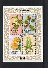 Samoa 1981 Christmas Flowers sheet UM (MNH)