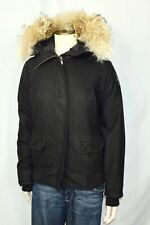 Canada Goose Chilliwack Loro Piana Wool Bomber Jacket  Women's Black Small S