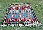 Turkish Tribal Design Southwestern Style Handwoven Vintage Kilim Rug 5x7 ft.