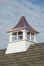 Accentua Charleston Vinyl Cupola with Copper Roof, 24 in. Square, 39 in. High