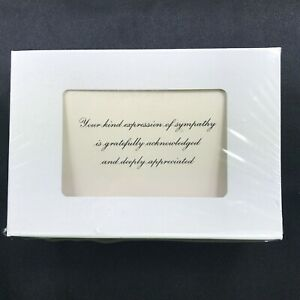 25 Funeral Thank You Note Cards-Sympathy Acknowledgement Cards w/Envelopes - New