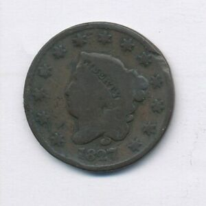 1827 CORONET HEAD LARGE CENT EXACT COIN SHOWN