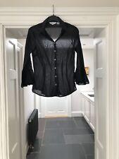 Zara Mujeres Negro Blusa Talla Mediana