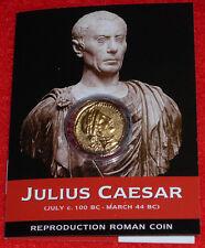 Reproduction Aureus de Jules César - Monnaie République Romaine