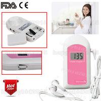 New CE Fetal Doppler Baby's Sound Heart Monitor Portable Detector,free gel