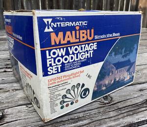 Vtg Intermatic Malibu Low Voltage Flood Light Landscape Set 6 Set LV1076T New