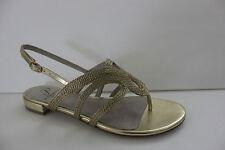 Adrianna Papell Women's Shoes Size 6.5 M  Metallic Gold Flat Sandal NIB