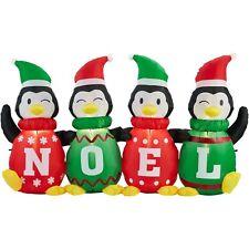 Christmas Airflowz 6 ft Wide Noel Sweater Penguins Airblown Inflatable