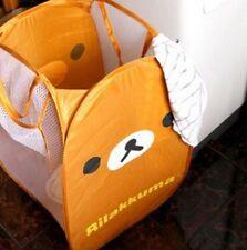 FD4304* Cartoon Rilakkuma Relax Brown Bear Laundry Bag Foldable Storage Basket