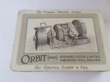 Vtg Playing Cards Advertising Richard Sizer Orbit HULL Cattle Sheep Pig Feed