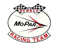 MEMBER MOPAR RACING TEAM HOT RAT ROD DRAG RACING NHRA DECAL BUMPER STICKER