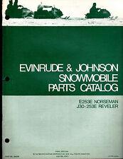 Evinrude & Johnson Snowmobile Part Catalog Norseman E253E Reveler J30-253E