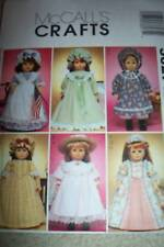 """MCCALLS 18"""" HISTORICAL DOLL CLOTHES Skirt Bonnet Nightgown PATTERN 3627"""