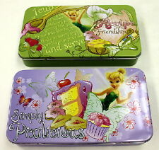 Walt Disney's Tinkerbell Art Pair of Tin Catch All Storage Boxes, NEW UNUSED