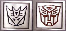 Pewter Belt Buckle Transformers reversable satin NEW