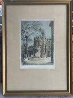 Original Early 20th Century Silk Etching By Austrian H Leisch Of The Karlskirche