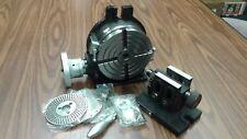 6 Horizontal Vertical Rotary Table Dividing Platestailstock Tsl150 Grvn New