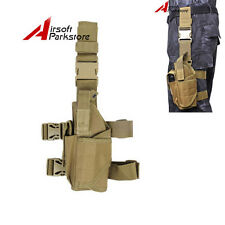 Military Tactical Pistol Drop Leg Thigh Holster Pouch for Left Hand Gun Holster