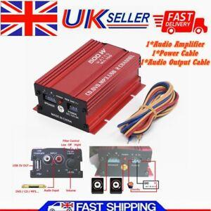 Car-12V 500W 2 Channel Mini Hi-Fi Stereo Audio Amplifier Amp Subwoofer DC 9/14V