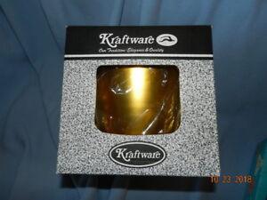 Gold Ice Bucket No Handle No Cover Kraftware USA