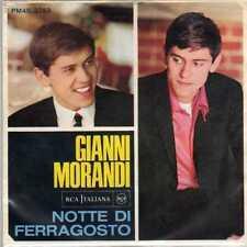 disco 45 GIRI Gianni MORANDI NOTTE DI FERRAGOSTO - POVERA PICCOLA