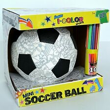 Franklin I-Color Sports Mini Soccer Ball w/ 10 Washable Colors Art for Kids New
