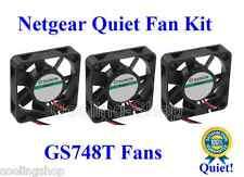 Quiet! Netgear GS748T 3-Fan KIT (NEW) 12dBA Noise each Fan