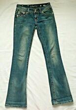 Miss Me Distressed JP5002-29 Nieten Bootcut Jeans Gesäßtasche Klappen Größe 27