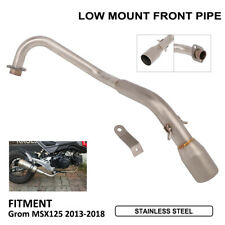 Low Mount Exhaust System Front Pipe Honda Grom MSX125 2013-2018 Motorcycle