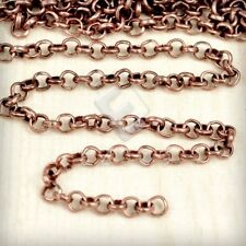 2/4M Iron Rolo Chain Unfinished Chains Jewelry Making 3/6.5/2.7/3.9mm Hot