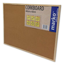 CORK NOTICE BOARD WOODEN FRAME MESSAGE PIN BOARD NOTICEBOARD MEMO OFFICE SCHOOL