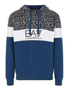 EA7 Emporio Armani 7 - Felpa Uomo Blu Cappuccio Logo