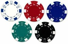 5 x Poker Chip Golf Ball Marker Casino Style Available in 5 Colours
